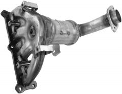 Walker WAL-16618 Ultra® Direct Fit Round Federal Catalytic Converter with Header Small Image