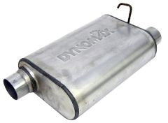 """DynoMax WAL-17567 Ultra Flo™ Welded Stainless Steel Direct Fit Oval Muffler - (2.5"""" ID, 2.5"""" OD, 14"""" x 9.75"""" x 4.5"""" Body) Small Image"""