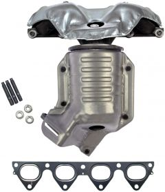 Dorman MOT-673-439 OE Solutions™ Cast iron Exhaust Manifold with Integrated Stainless Steel CARB Catalytic Converter Small Image