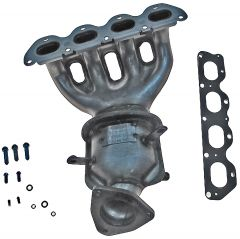 Dorman MOT-674-616 OE Solutions™ Cast Iron Exhaust Manifold with Integrated Stainless Steel Federal Catalytic Converter & Gaskets Small Image