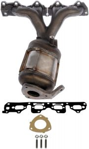 Dorman MOT-674-889 OE Solutions™ Cast Iron Exhaust Manifold with Integrated Stainless Steel Federal Catalytic Converter & Gaskets Small Image