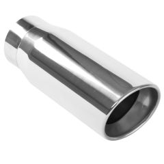 """MagnaFlow MAG-35231 Stainless Steel Double-Wall Round Rolled Edge Angle Cut Weld-On Diesel Tip - (4"""" ID, 5"""" OD, 13"""" Length) Small Image"""