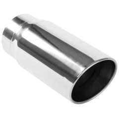 """MagnaFlow MAG-35233 Stainless Steel Double-Wall Round Rolled Edge Angle Cut Weld-On Diesel Tip - (5"""" ID, 6"""" OD, 13"""" Length) Small Image"""