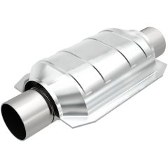 """MagnaFlow MAG-559106 Universal Stainless Steel CARB OBDII Catalytic Converter (2.5"""" IN\/2.5"""" OUT) Small Image"""