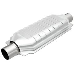 """MagnaFlow MAG-99506HM Stainless Federal Heavy Metal Catalytic Converter without Sensor Port (2.5"""" IN\/2.5"""" OUT) Small Image"""