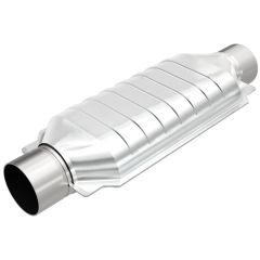 """MagnaFlow MAG-99509HM Stainless Federal Heavy Metal Catalytic Converter without Sensor Port (3"""" IN\/3"""" OUT) Small Image"""