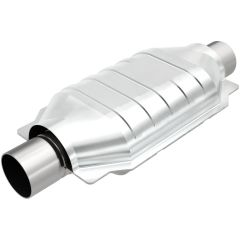"""MagnaFlow MAG-99556HM Stainless Federal Heavy Metal Catalytic Converter without Sensor Port (2.5"""" IN\/2.5"""" OUT) Small Image"""