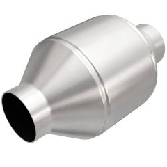 """MagnaFlow MAG-99656HM Stainless Federal Heavy Metal Catalytic Converter without Sensor Port (2.5"""" IN\/2.5"""" OUT) Small Image"""