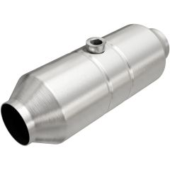 """MagnaFlow MAG-99766HM Stainless Federal Heavy Metal Catalytic Converter with 1x O2 Sensor Port (2.5"""" IN\/2.5"""" OUT) Small Image"""