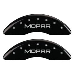 MGP MGP-55002SMOPBK Gloss Black Caliper Covers with Mopar Logo Engraving - (Full 4 Pcs Set) Small Image