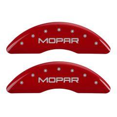 MGP MGP-55002SMOPRD Gloss Red Caliper Covers with Mopar Logo Engraving - (Full 4 Pcs Set) Small Image