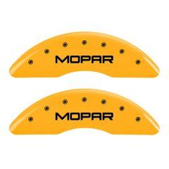 MGP MGP-55002SMOPYL Gloss Yellow Caliper Covers with Mopar Logo Engraving - (Full 4 Pcs Set) Small Image