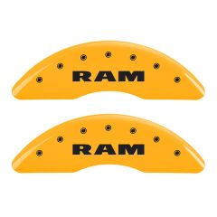 MGP MGP-55002SRMHYL Gloss Yellow Caliper Covers with RAM RAMHEAD Logo Engraving - (Full 4 Pcs Set) Small Image