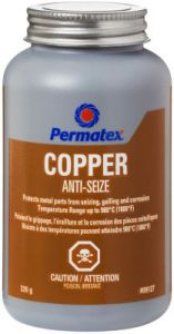 Copper Anti-Seize Lubricant (226 g / 8 oz Brush-Top Bottle)