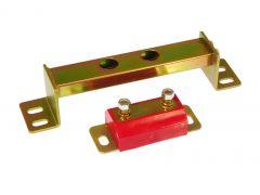Prothane PTN-6-1606 Red Transmission Crossmember Mounts Small Image
