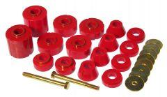 Prothane PTN-7-135 Red Body Mount Bushing Kit Small Image