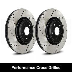 Reibung REI-BRTCRD9999-BC-P Performance Black Cross Drilled Brake Rotors Set Small Image