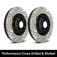 Reibung REI-BRTCRDSTS9999-BC-P Performance Cross Drilled & Slotted Brake Rotors Small Image
