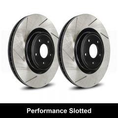 Reibung REI-BRTSTS9999-BC-P Performance Black Straight Slotted Brake Rotors Set Small Image