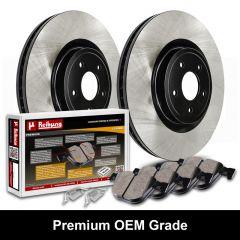 Premium Black OEM Grade Brake Rotors with Ceramic Pads Kit