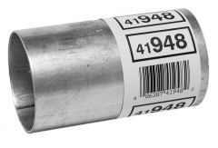 """Walker WAL-41948 Aluminized Steel Exhaust Pipe Connector - (2.125"""" ID, 2.125"""" OD, 4"""" Length) Small Image"""