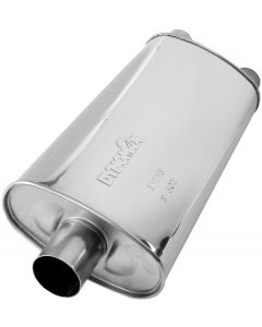 "DynoMax WAL-17273 Ultra Flo™ Stainless Steel Direct Fit Oval Muffler - (3"" ID, 2x2.5"" OD, 23"" x 11"" x 5.5"" Body) Small Image"