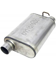 "DynoMax WAL-17568 Ultra Flo™ Welded Stainless Steel Direct Fit Oval Muffler - (2.5"" ID, 2.5"" OD, 14"" x 9.75"" x 4.5"" Body) Small Image"