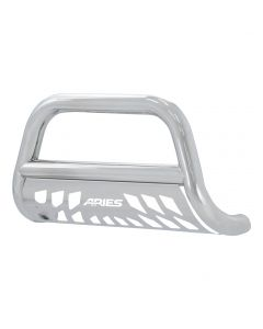 "Aries ARI-35-2010 3"" Polished 304 Stainless Steel Bull Bar with Skid Plate Small Image"