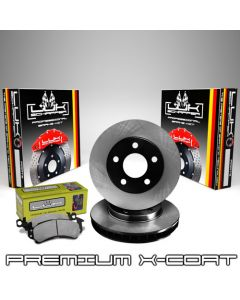 LUK Schaffer LSF-BC42054 Black X-Coated Premium Brake Rotors Kit with Ceramic Pads Small Image