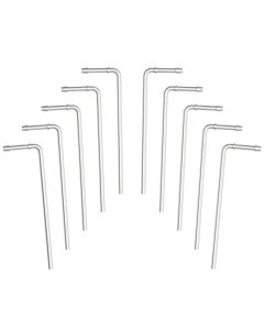 "MagnaFlow MAG-10153 Stainless Steel Bent 90ᄚ Exhaust Hangers (0.500"" DIA, 10"" Length) - 10 per Pack Small Image"