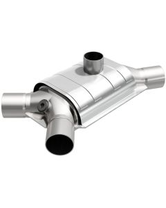 "MagnaFlow MAG-33002 Universal Stainless Steel CARB PRE-OBDII Catalytic Converter with 1x O2 Sensor Port (2"" IN\/2"" OUT) Small Image"