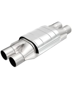 "MagnaFlow MAG-332008 Universal Stainless Steel CARB PRE-OBDII Catalytic Converter (2"" IN\/2"" OUT) Small Image"
