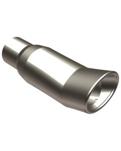 "MagnaFlow MAG-35161 Stainless Steel Double-Wall Oval DTM Weld-On Tip - (2.5"" ID, 3"" x 4"" OD, 10"" Length) Small Image"