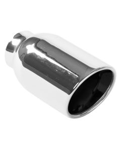 "MagnaFlow MAG-35164 Stainless Steel Double-Wall Round Rolled Edge Angle Cut Weld-On Tip - (2.25"" ID, 4"" OD, 8.25"" Length) Small Image"