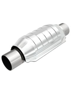 "MagnaFlow MAG-53004M Stainless Federal Catalytic Converter without Sensor Port (2"" IN\/2"" OUT) Small Image"