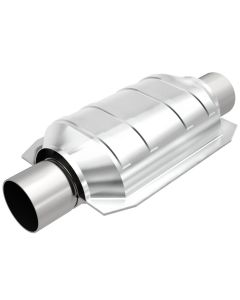 "MagnaFlow MAG-91004M Stainless Federal Catalytic Converter without Sensor Port (2"" IN\/2"" OUT) Small Image"