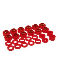 Prothane PTN-1-104 Red Body Mount Bushing Kit - (22 PCS) Small Image