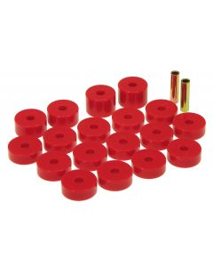 Prothane PTN-1-109 Red Body Mount Bushing Kit - (18 PCS) Small Image