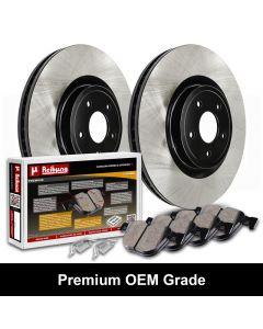 Reibung REI-BRPOEM42078-BC-K Premium Black OEM Grade Brake Rotors with Ceramic Pads Kit Thumbnail