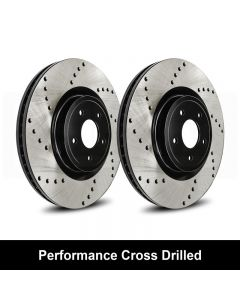 Reibung REI-BRTCRD04003-BC-P Performance Black Cross Drilled Brake Rotors Set Small Image