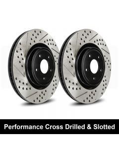 Reibung REI-BRTCRDSTS04002-BC-P Performance Cross Drilled & Slotted Brake Rotors Small Image