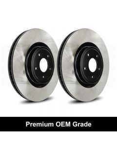 Reibung REI-BRTOEM02004-BC-P Premium Black OEM Grade Brake Rotors Small Image