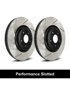 Reibung REI-BRTSTS02004-BC-P Performance Black Straight Slotted Brake Rotors Set Small Image