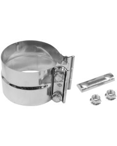 "Walker WAL-33224 Heavy Duty Stainless Steel Exhaust Flat Band Clamp - (4"" Dia) Small Image"