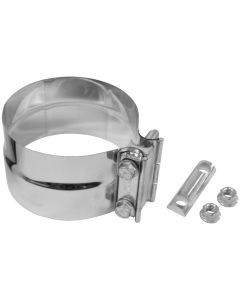 "Walker WAL-33225 Heavy Duty Stainless Steel Exhaust Flat Band Clamp - (5"" Dia) Small Image"