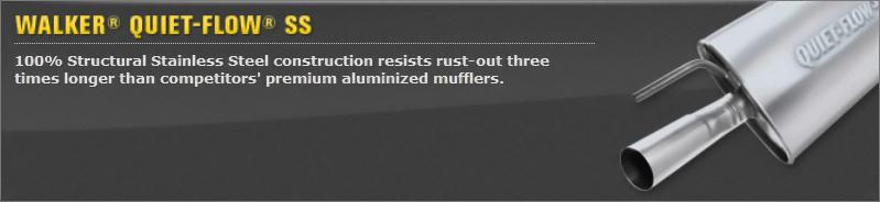 Walker 47843 Quiet-Flow Stainless Steel Muffler